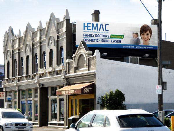 Hawthorn East Medical Aesthetic Clinic - Billboard Design
