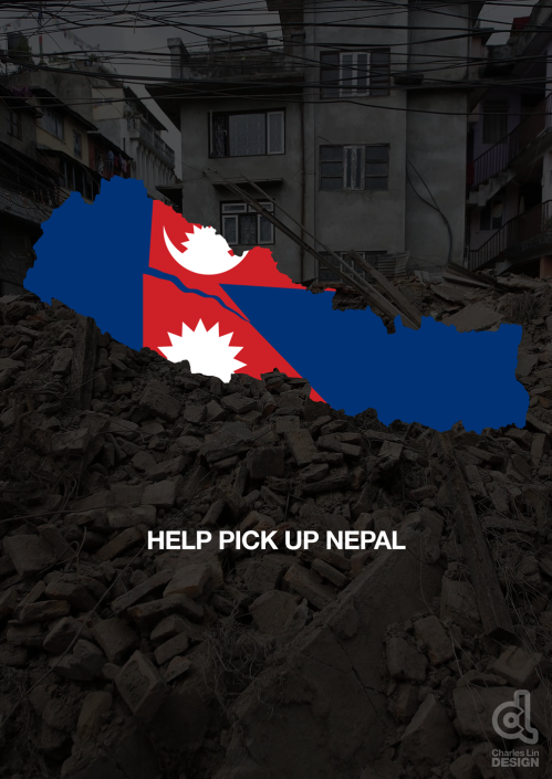 Help Pick Up Nepal Poster