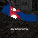Help Pick Up Nepal Poster