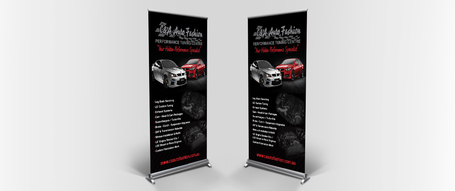 C&A Auto Fashion - Pull Up Banner