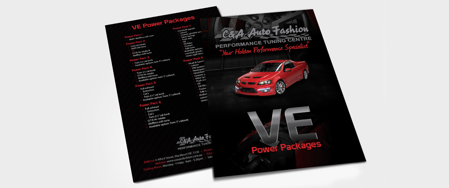 C&A Auto Fashion - VE A5 Flyer