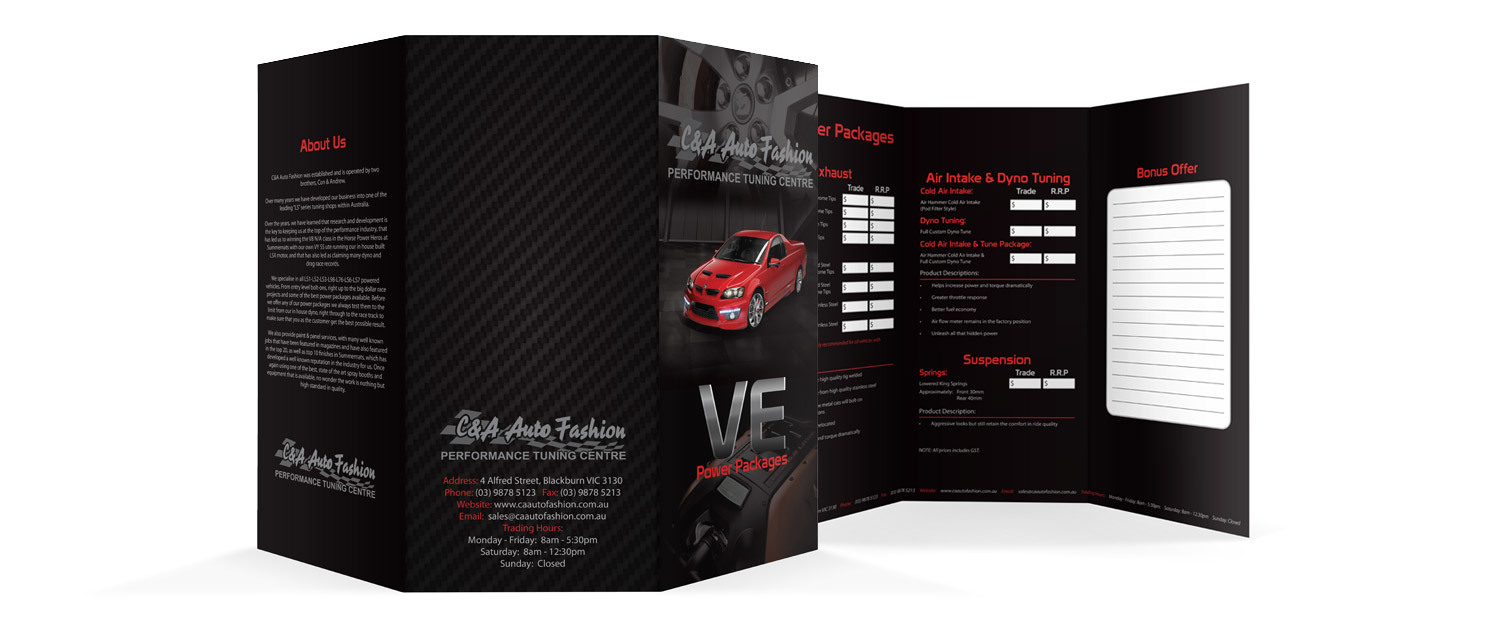 C&A Auto Fashion - VE DL Brochure