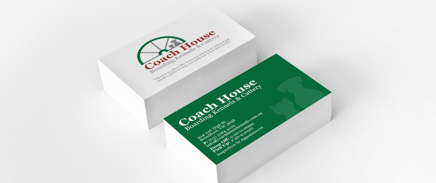 Coach House Boarding Kennels - Business Cards