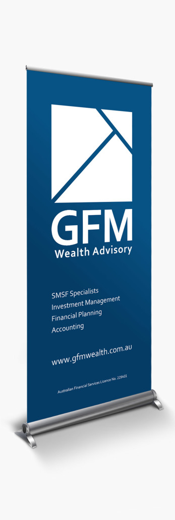 GFM Wealth Advisory - Pull Up Banner