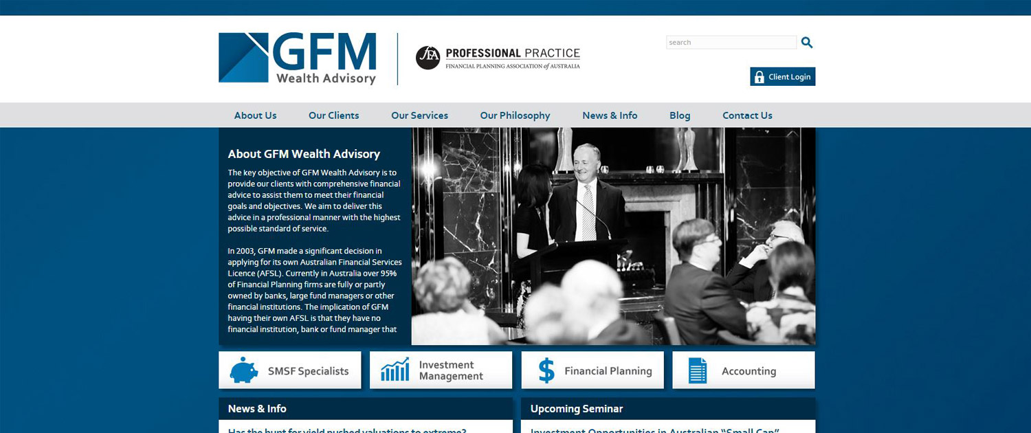 GFM Wealth Advisory - Website