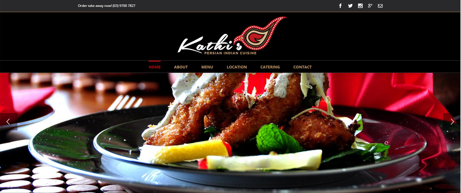 Kathi's Persian Indian Restaurant - Website