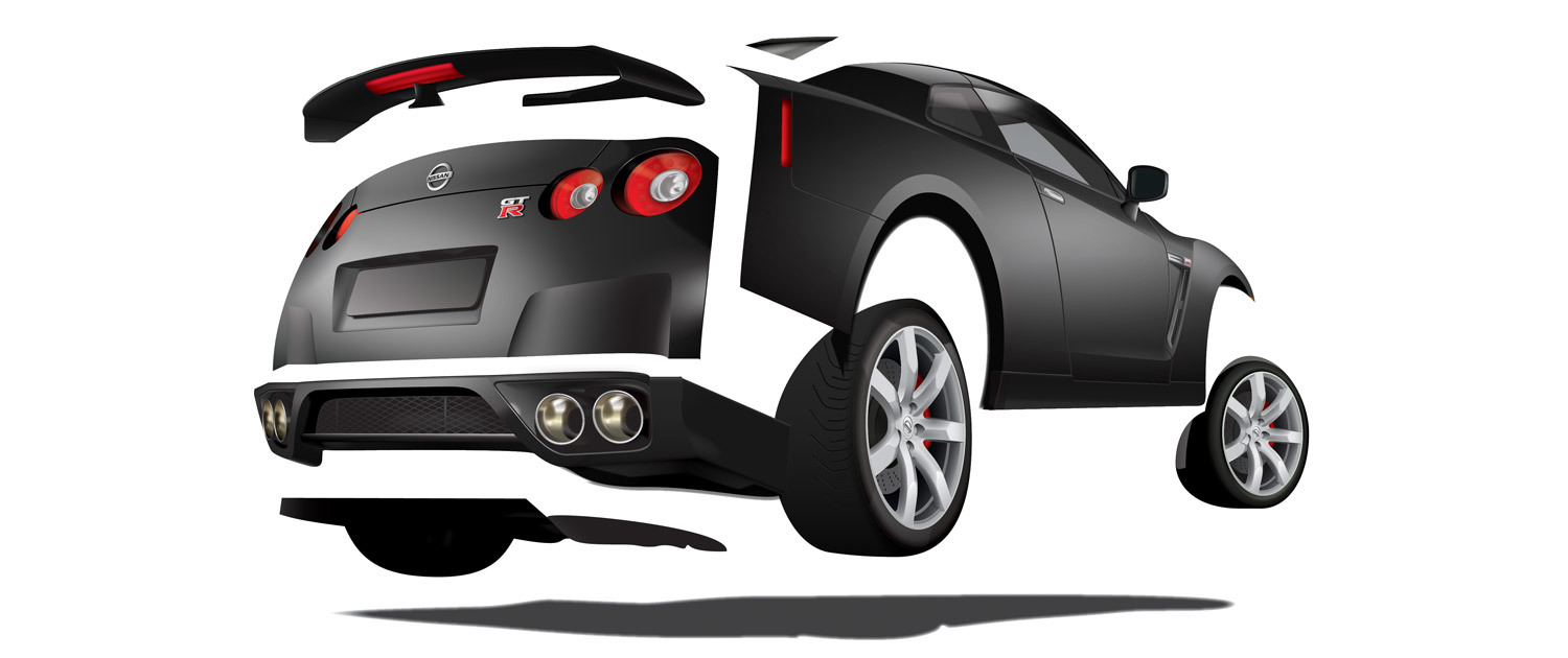 Nissan GT-R - Illustration Breakdown