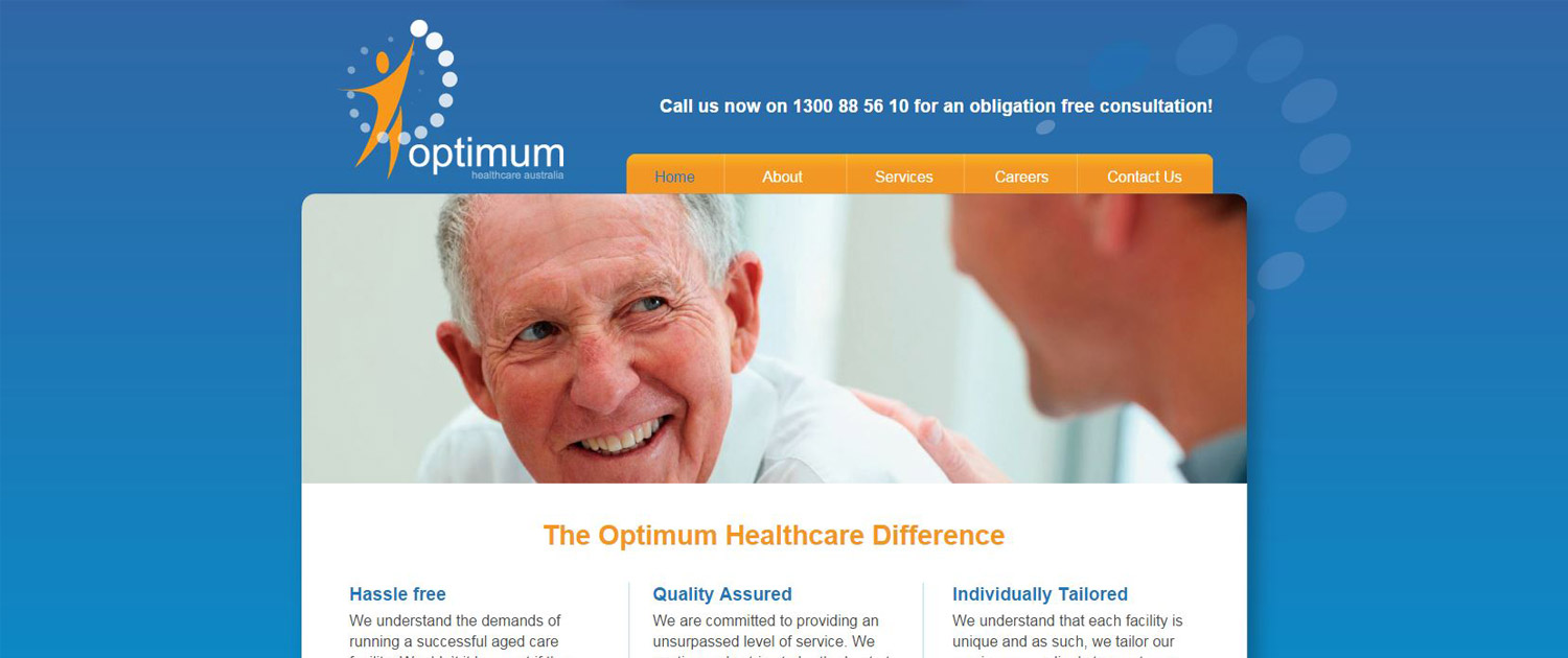 Optimum Healthare Australia - Website