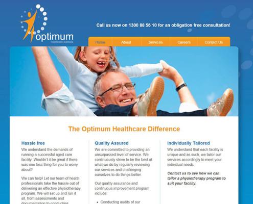 Optimum Healthcare Australia Website