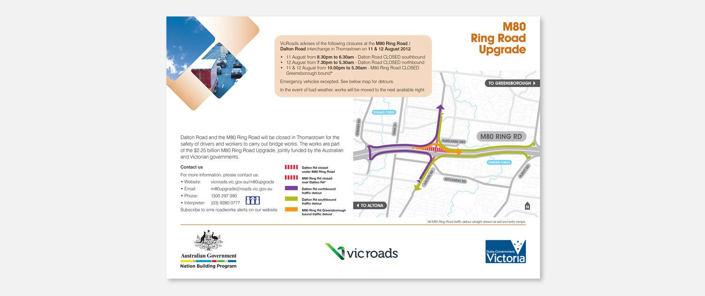 VicRoads - M80 Detour Map Ad