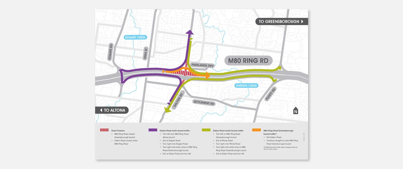 VicRoads - M80 Detour Map