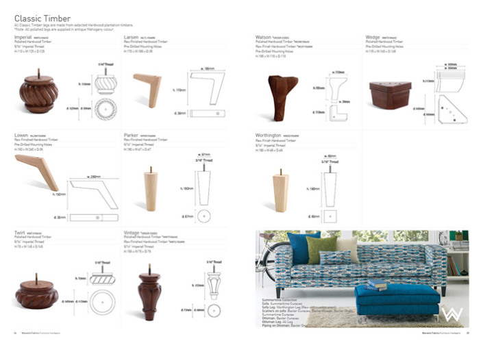 Warwick Fabrics - Hardware Selection Catalogue