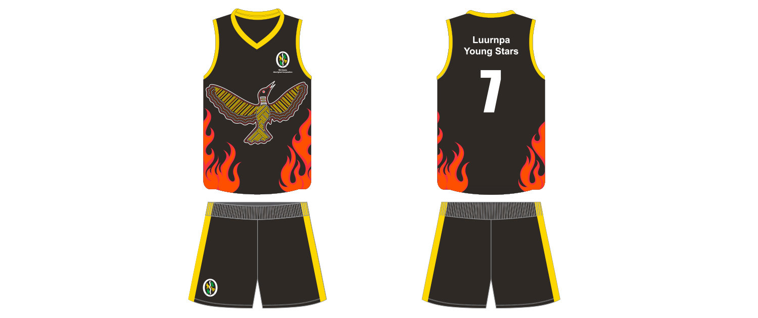 Wirrimanu Aboriginal Corporation - Luurnpa Young Stars Football Jumper